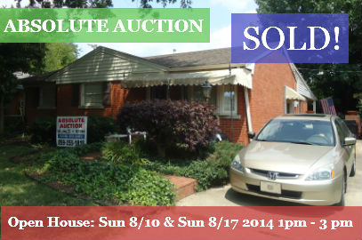 <b>Absolute Auction</b> – Sat 8/23/14 at 10AM – 2085 St Teresa Dr  Lexington, Ky 40502